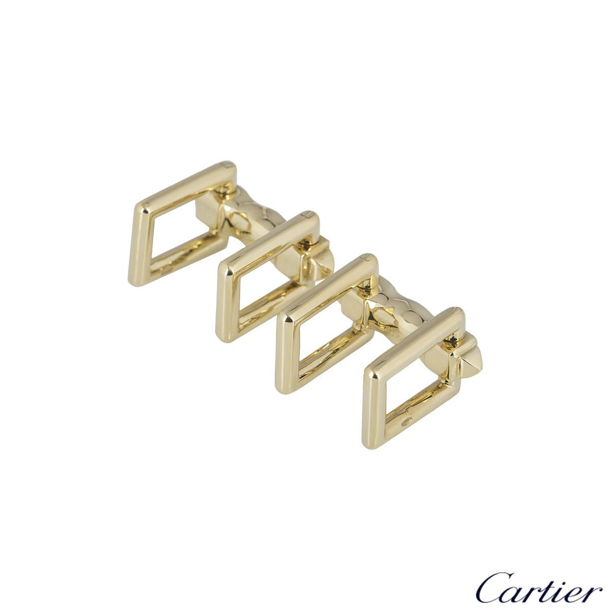 Cartier Yellow Gold Rectangular Folding Cufflinks